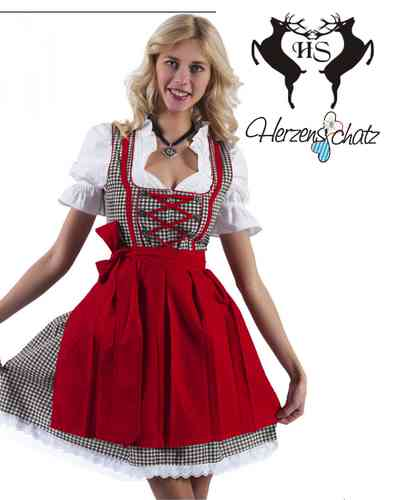 minidirndl 50 cm mini dirndl 3 tlg herzensschatz dirndl. Black Bedroom Furniture Sets. Home Design Ideas
